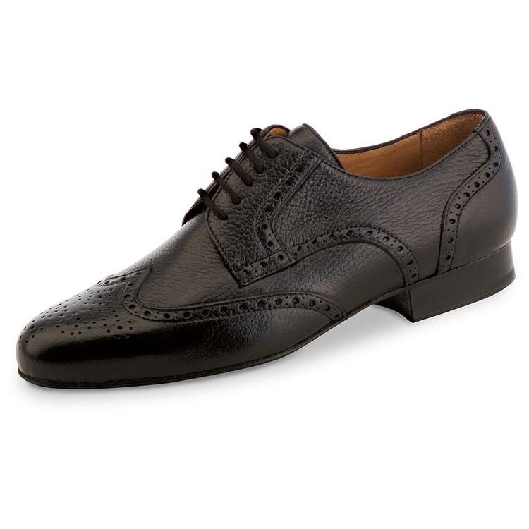 chaussure de danse pour homme werner kern, chaussure de danse de salon, très confortable, cuir souple, laçage 5 trous, joli design sur devant chaussure et côté, Danceworld bruxelles