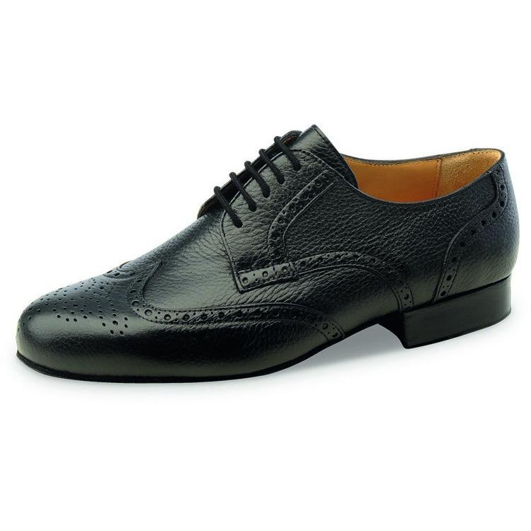 chaussure de danse pour homme werner kern 28034, chaussure de danse de salon, modèle pour pieds larges, cuir noir souple, très confortable, laçage 5 trous