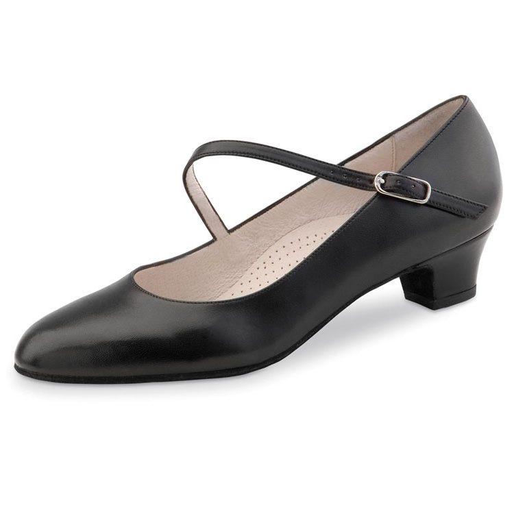 chaussure de danse pour femme werner kern cindy 34, chaussure de danse de salon, en cuir souple, très confortable, semelle intérieur confort, bride sur le coup de pied, talon 3.4 cm, idéal pour danse de salon, danceworldà bruxelles