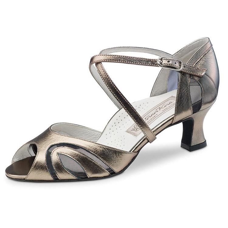 chaussure de danse femme werner kern greta 50 confort, chaussure de danse de salon, semelle intérieur ergonomique, croisés sur le dessus du pied, petite ouverture, danceworl bruxelles