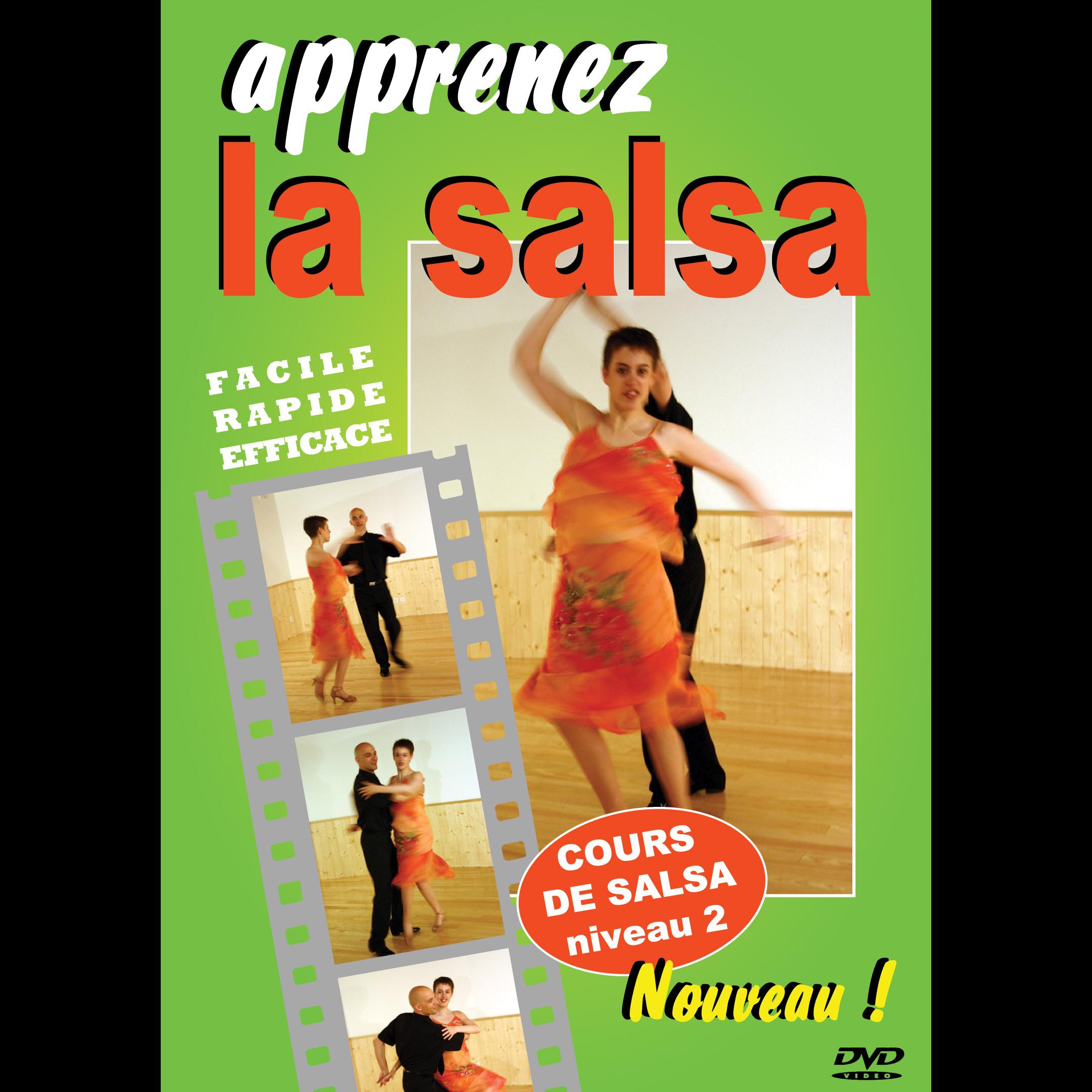 DVD tutoriel cours de salsa niveau moyen en 7 leçons. ARCADES JP113.