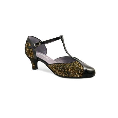 Chaussure de danses de salon femme MERLET Adicia, coloris or.