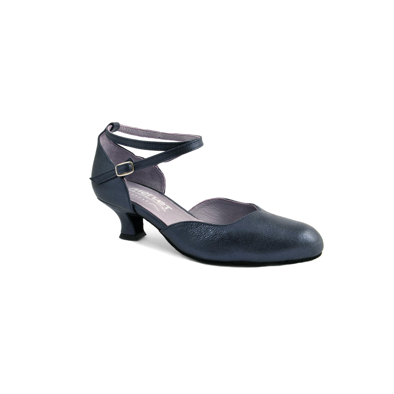 Chaussure de danses de salon femme MERLET Badras coloris ocean, talon 5 cm