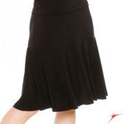 Jupe danses de salon SO DANCA E11187 noire, longueur mollet.