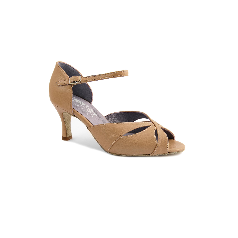 Chaussure de danses de salon femme MERLET Saphir coloris biche 120, talon 6 cm.