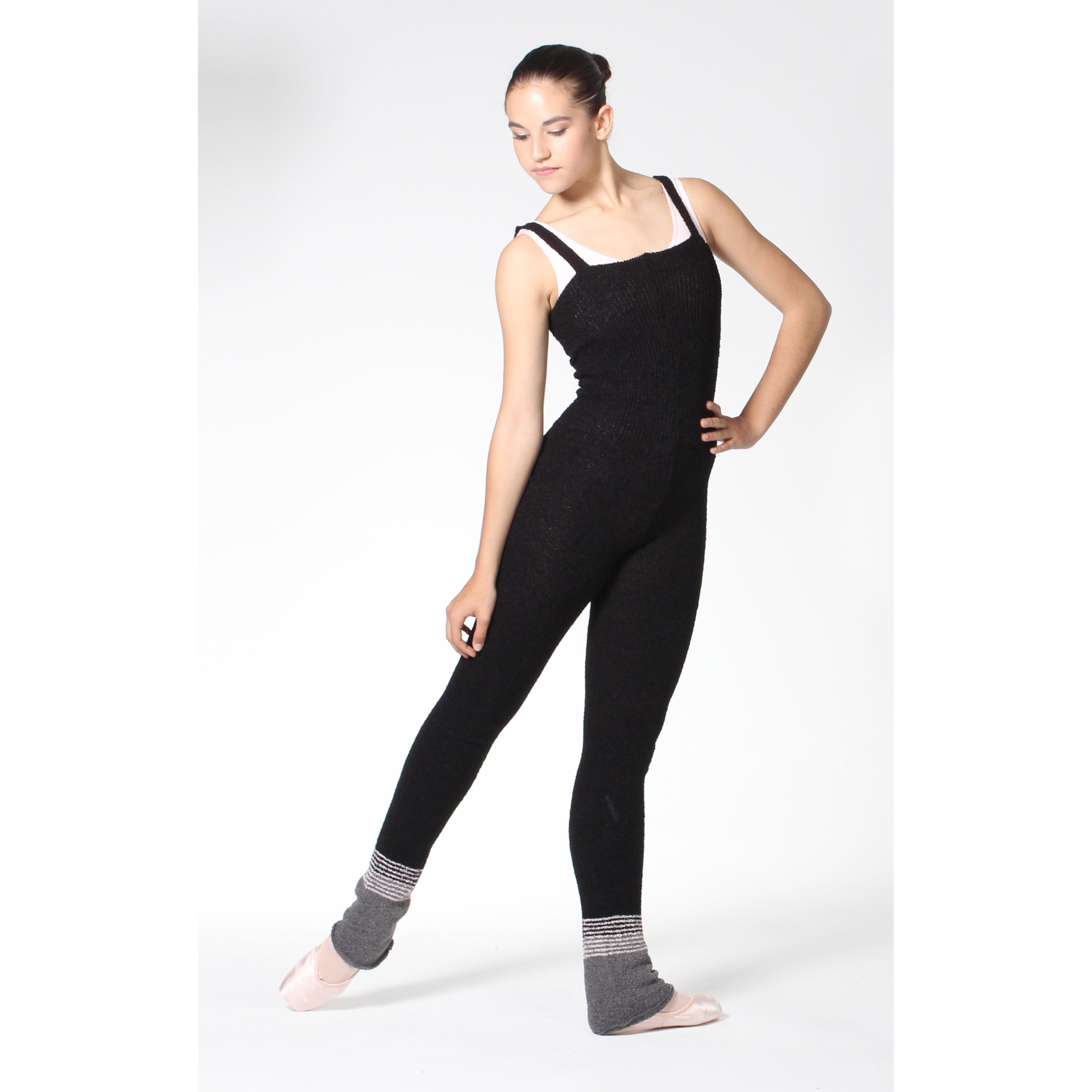 Académique en lainage INTERMEZZO 4124, pour l'échauffement de danse, à bretelles.