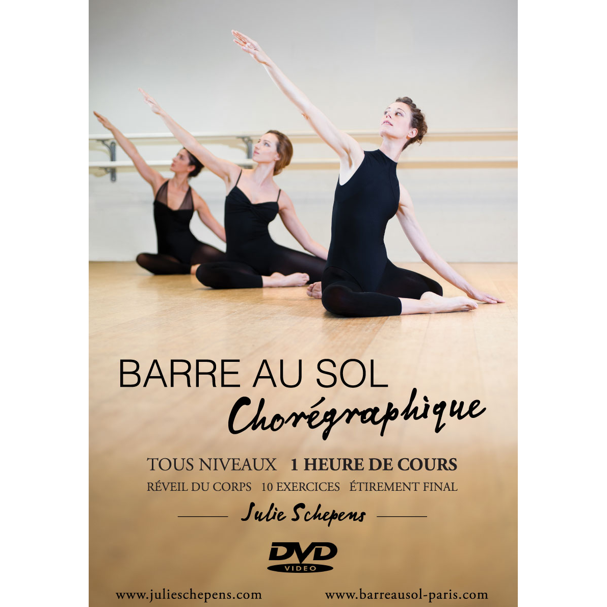 DVD tutoriel ballet classique, Barre au sol chorégraphique vol 1 tous niveaux.