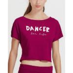 "AGILE JR, T-shirt court ""DANCER for Life"" TEMPS DANSE, danceworld, bruxelles"