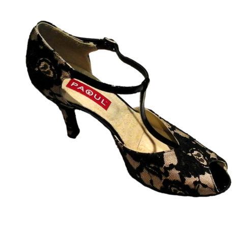 Chaussure de Tango femme PAOUL 615 lace, chaussure de danses latines, talon 8 cm, danceworld, bruxelles.