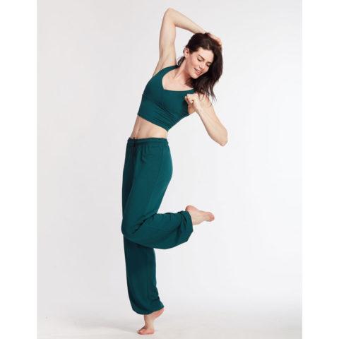 Pantalon de danse Temps Danse ALASKA, fibres naturelles, jogging de danse unisexe, pantalon d'échauffement large, danceworld, bruxelles.