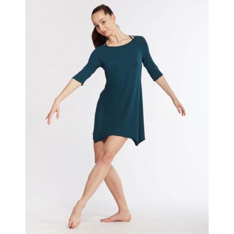 Robe de danse asymétrique Temps Danse BARBARA, viscose de bambou, danceworld, bruxelles.