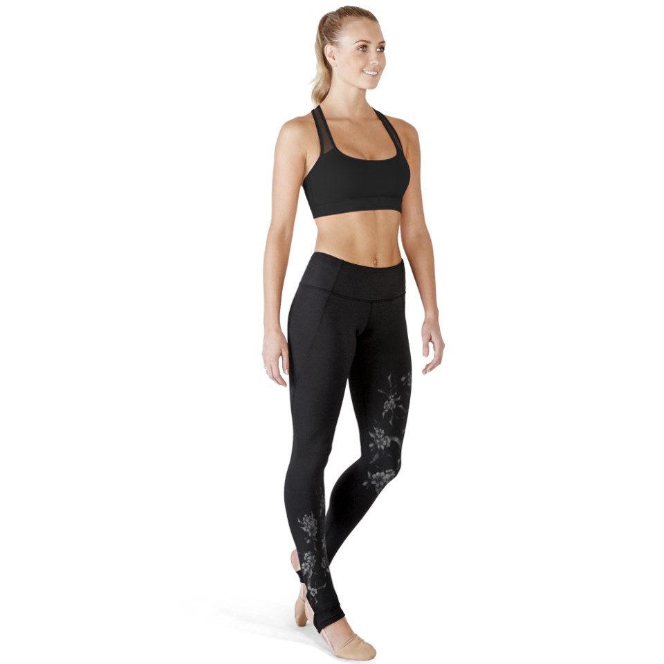 Legging de danse et yoga BLOCH BLOSSOM, pieds-étriers • Danceworld, bruxelles