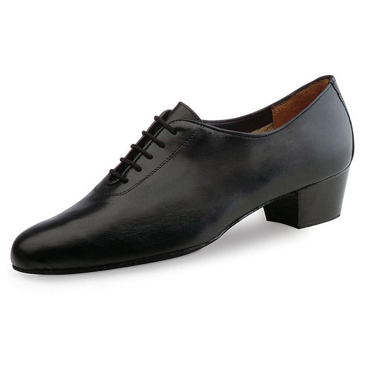 chaussure de danse latine pour homme werner kern, chaussure de danse latine, en cuir souple, très confortable, talon 4 cm, laçage 5 trous, idéal pour danses latines