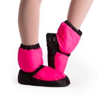 IM009 PKF, Booties d'échauffement BLOCH Adulte, IM009K PKF, Booties d'échauffement BLOCH enfant, Bottines d'échauffement danse classique BLOCH BOOTIES IM009, pink fluo.