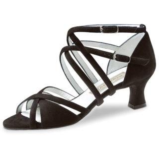 chaussure de danse werner kern liz 65, chaussure de danse de salon, talon 5.5 cm, double lanière croisée, en daim, très confortable