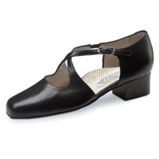 chaussure de danse pour femme werner kern ines confort 35, chaussure de danse de salon, très confortable avec semelle ergonomique, en cuir très souple, talon carré de 3.5 cm, idéal pour danse de salon, dance world bruxelles