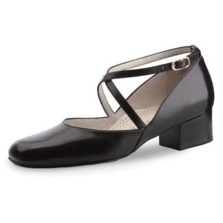 chaussure de danse pour femme werner kern marion 35, chaussure de danse de salon, en cuir souple, très confortable, brides croisées sur le pied, adapté pour pied large, idéal pour danse de salon, danceworld à bruxelles