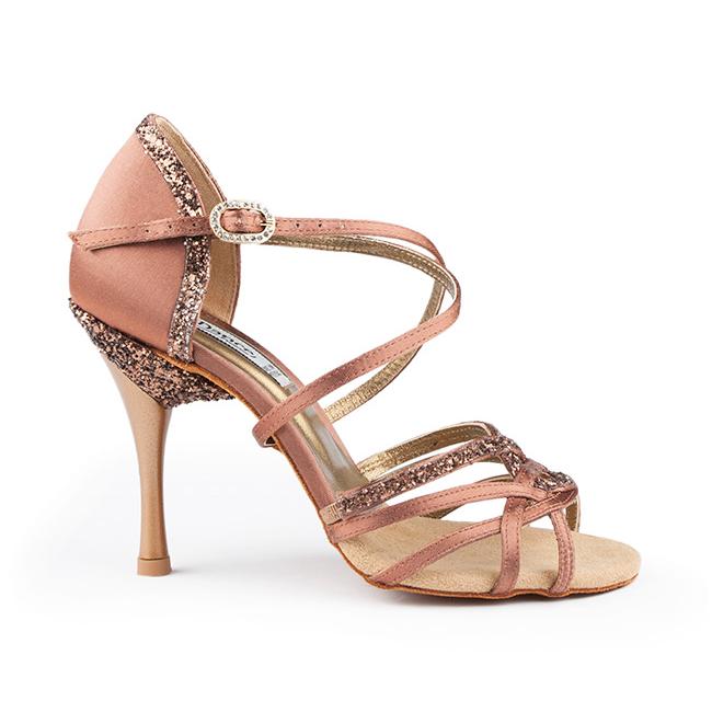 Chaussure de danses de salon PORTDANCE PD800-75 PRO bronze