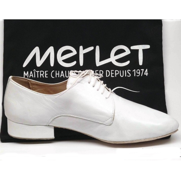 ZEPHIR blanc, Chaussure de danses latines MERLET homme, danceworld bruxelles