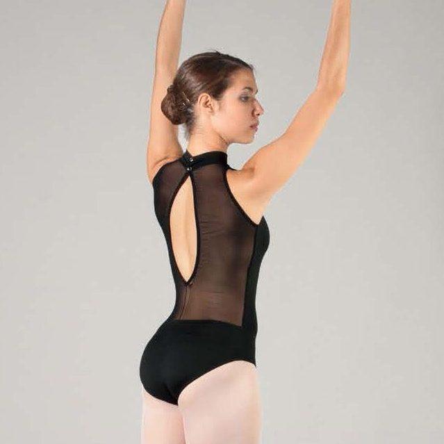 Justaucorps de ballet classique SHEDDO 4050W, chez Dance World, votre boutique d'équipement de danse à Bruxelles.
