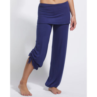 Pantalon de danse TEMPS DANSE BABY bleu cobalt, viscose bambou, pantalon de yoga, pantalon droit à rabat, fibres naturelles, danceworld, bruxelles.